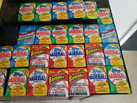 HUGE LOT OF 100-PLUS TOPPS VINTAGE BASEBALL CARDS IN SEALED WAX PACKS!!!