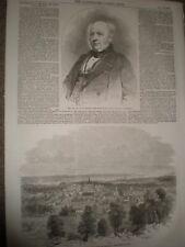 Sir Allan Napier Macnab & view Hamilton Canada 1856 prints ref AT