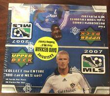 2007 Caja de fútbol MLS UD UPPER DECK sellado de fábrica -36 paquetes BECKHAM primero DAVID