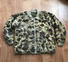 Vintage Columbia Hunting Camo Bomber Reversible Jacket Men's Large