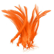 Dyed Orange Craft Turkey Feathers For Jewellery Making 120mm Pack of 20 (R23/3)