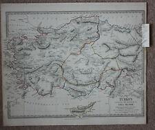 Original antique map, ANCIENT ASIA MINOR, CYPRUS, SALAMIS, SDUK, 1830