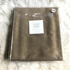 """Restoration Hardware Thai Silk Solid Drapery Flax 50"""" x 108"""" Rod Pocket NEW"""