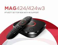 MAG 424 / 424W3 4K IPTV Multimedia set top box * Ships from Canada