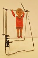 VTG ANTIQUE BRANKO OF JAPAN MECHANICAL WIND-UP CELLULOID TOY BOY CIRCUS ACROBAT