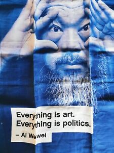 Ai WeiWei Tea Cloth NGV Melbourne Everything is art. Everything is politics.