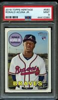 2018 Topps Heritage High Ronald Acuna Jr. Rookie #580 PSA 9 Mint RC Braves