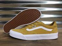 Vans Palomar Suede Canvas Skate Shoes Arrowwood Yellow White SZ 9 (VN0A3WLDSSM)