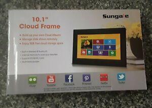 "BRAND NEW: Sungale 10"" WiFi Cloud LED Digital Photo Frame CPF1032 Slideshow"