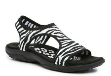 Skechers Reggae Slim Roar Stretch Sandal Black/White > Memory Foam > NEW