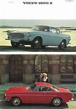 """VOLVO """"1800 S"""" Coupé - 115 HP SAE - 01/1967 - USA sales brochure, prospekte"""