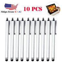 10x Silver Universal Stylus Touch Screen Pen for Tablet Phone iPod-iPad PC
