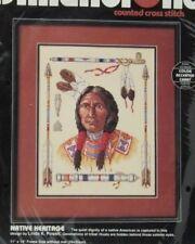 DIMENSIONS Native Heritage Cross Stitch Kit #3736 Native Chief Man