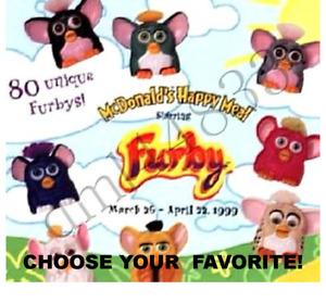 McDonald's 1999 Vintage Furby-Choose Your Favorite! Retro 1990s