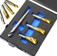 4pc HSS Cobalt Spot Weld Drill Set 6.5 mm 8 mm 10 mm & 8 mm