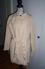 "Hal Rubenstein ""Denise"" Trench Coat with Belt Color Dune Sz Large  NEW WITH TAGS"