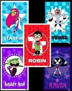 Teen Titans GO! 6 pack poster prints