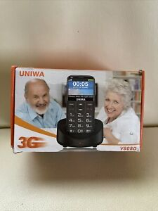 UNIWA V808G Unlocked Cell Phone for Elderly People Black Free Shipping