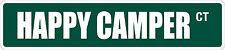 "*Aluminum* Happy Camper 4"" x 18"" Metal Novelty Street Sign  SS 1663"
