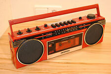 SANYO M6900F ROT - VINTAGE Stereo Radio Recorder Ghettoblaster Boombox OLDSCHOOL