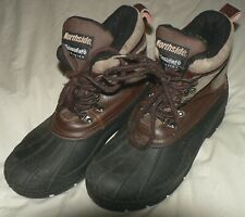 NORTHSIDE Men's Sz 9 Brown Leather Rubber Thinsulate Waterproof Winter Pac Boots