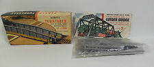TRAINS : TURNTABLE & GIRDER BRIDGE AIRFIX HO & OO SCALE MODEL KITS - VINTAGE