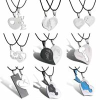 Valentine's Day Heart Love Family Couple Lover Pendant Necklace Jewelry Gifts