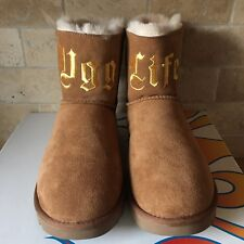 UGG x Jeremy Scott UGG Life Classic Mini Chestnut Suede Boots Size US 11 Womens