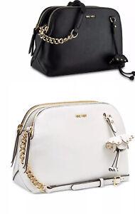💯 NINE WEST Marea Lorenza Crossbody Women's Shoulder Bag Black - White Gold $69
