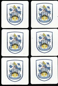 HUDDERSFIELD TOWN F.C. Pack of Crested Beer Mats / Coasters FREE POST UK
