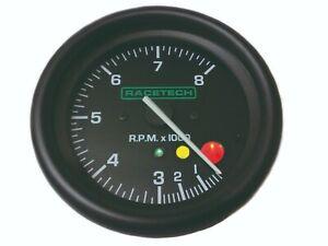 RACETECH TACHOMETER GAUGE 10,000 RPM WITH SHIFT LIGHTS