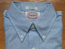 Vaughn at Sather Gate Blue Oxford Button Down Shirt 15 1/2-32 Rare Vtg Ivy Style