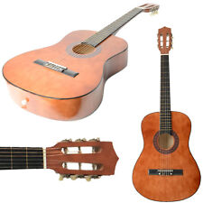 "New 38"" Plywood Brown 6 Strings 19 Frets Classical Acoustic Guitar for Beginner"