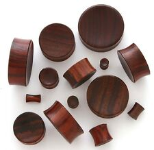 "Pair 7/8"" 22mm Brown Sono Organic Solid Wood Concave Saddle Plugs Ear Gauge 230"