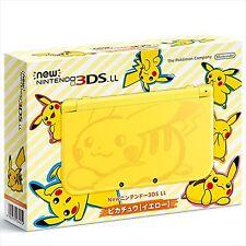 Nintendo 3DS Ll XL Consola Pikachu Amarillo Pokemon Japón Limitado Modelo Nuevo