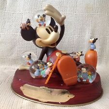 Disney Mickey Mouse NIGHTMARE Musical Figurines Multi SnowGlobe-MIB