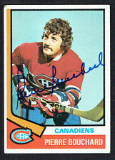 Pierre Bouchard #254 signed autograph auto 1974-75 Topps Hockey Trading Card