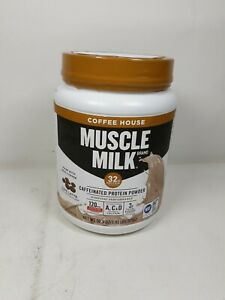 Muscle Milk Coffee House Caffeinated Protein Powder,32g Protein,1.93 pound