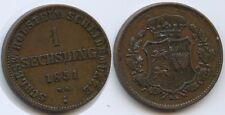 G7000 - Schleswig-Holstein 1 Sechsling 1851 KM#162 Statthalterschaft 1848-1851