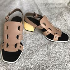 Marni Block Heel Sandal New 37.5 / 7 Ankle Strap Made in Italy