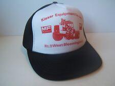 Massey Ferguson Kieser Equipment Hat Vintage Black White Snapback Baseball Cap