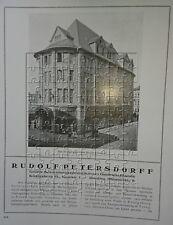 Rudolf Petersdorff Bekleidung Königsberg Tsingtau 2 Seiten Gr. Werbeanzeige 1922