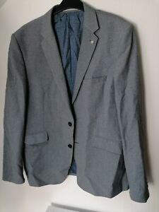 Mens Suit Jacket 44s Slim Fit Grey Worn Once