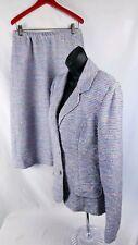 Vtg Bergdorf Goodman On The Plaza Suit Skirt Set Women's Size 14 Wool Knit