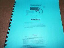 Cobra Derringer, Manual, 8 Pages
