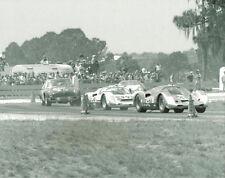 Vintage 8 X 10 1969 Sebring Porsche 906's & MGC Auto Racing Photo