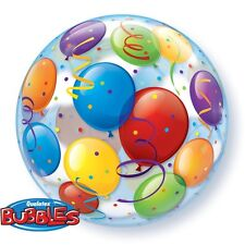 "22"" BUBBLE BALLOON ""BALLOONS"" PARTY DECORATION - STRETCHY"