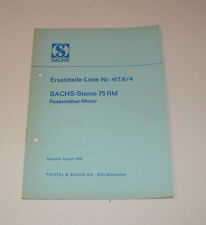 Ersatzteilkatalog SACHS Stamo 75 RM - Ausgabe 1968!