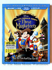 Disney Mickey Mouse & Friends The Three Musketeers Blu-ray DVD and Digital Copy
