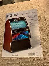 11- 8 1/4� Rock Ola 496 Jukebox 1987 arcade game Ad Flyer